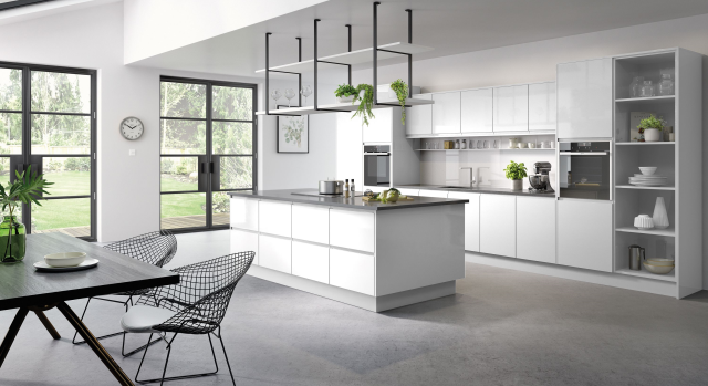 trade kitchen quote for moy - gloss white