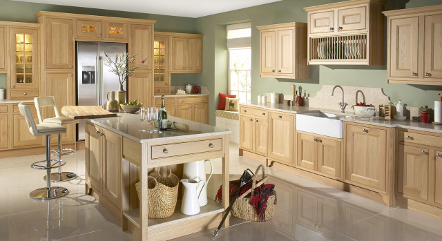 trade kitchen quote for tetbury - natural oak